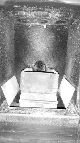ako nastaviť kachle na pelety aby boli efektívne - správny vzhľad spaľovacej komory