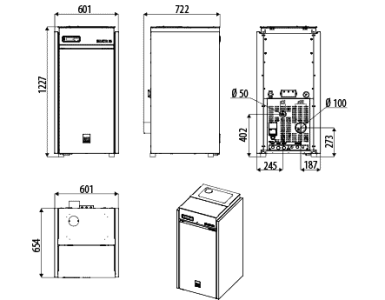 Peletový kotol SELECTA Q S1