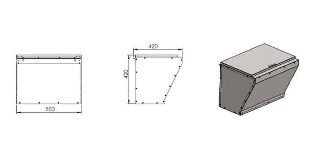Dodatočný zásobník pre kotle KOZLUSAN Lidia 25 - 45 kg